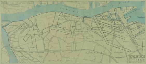 VII-88-04-01A Kaart van het noordwestelijke deel van het eiland IJsselmonde