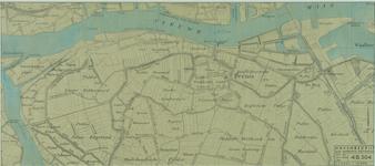 VII-88-04-01B Kaart van het noordwestelijke deel van het eiland IJsselmonde met aanduiding van te graven havens