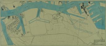 VII-88-04-01C Kaart van het noordwestelijke deel van het eiland IJsselmonde met aanduiding van gerealiseerde en te ...
