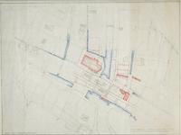 VIII-70-17-01-1 Kaart van het centrum van Rotterdam ten behoeve van archologisch onderzoek van het Rijksbureau voor de ...