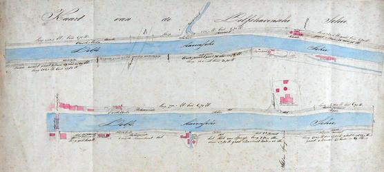 VIII-8-01-01 Kaart van de Delfshavense Schie in twee delen