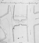 X-108-02 Situatieschets voor een te bouwen brug over de Goudsesingel tussen de Jonker Fransstraat en de Heerenstraat