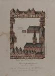 XI-1 Plattegrond van het Sint-Agnietenklooster [Admiraliteitshof] gezien van de kant van de Prinsenstraat.