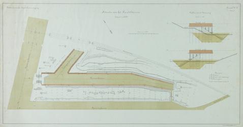 XIV-304 Plattegrond van het terrein van de Rotterdamsche Handelsvereeniging op Feijenoord