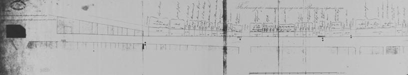 XV-6-02-01 Tekening van de nieuwe rooilijn in de Baan [lichtdruk]