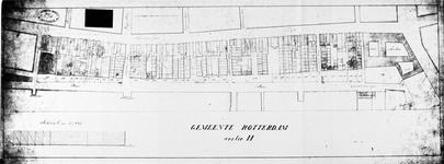 XV-6-02-02 Plattgrond van de percelen gelegen aan de Baantussel de Sleutelsteeg en het Stadsarmhuis [lichtdruk]