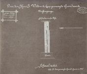 XV-6-07-01 Plattegrond met aanduiding van door B. Wilton te koop gevraagd grond aan de Vossengang, tussen de ...