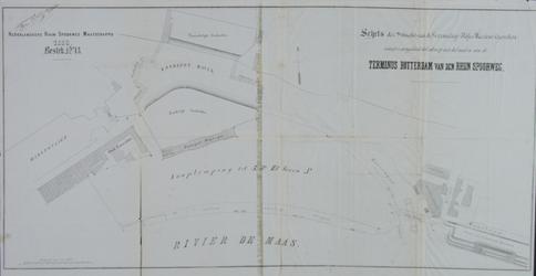 XVII-20-01 Plattegrond van het terrein van het aan leggen Maasstation.