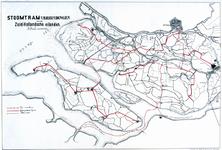 XVII-78-01 Kaart van de stoomtramverbindingen tussen Rotterdam en de Zuid-Hollandse eilanden