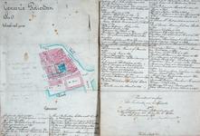 XVIII-296-02 Plattegrond van genummerde percelen gelegen tussen het Westnieuwland, de Vissersdijk en de Nieuwstraat, ...