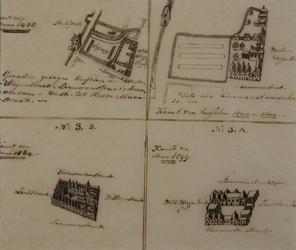 XVIII-361-1 Diachrone presentatie van het grondperceel van de Sint-Rosaliakerk tussen de Leeuwenstraat, ...