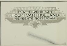 XVIII-4 Plattegrond van Hoek van Holland en omgeving in 20 bladen. Het afgebeelde gebied wordt begrensd door ...