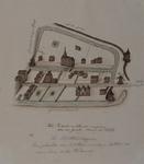 XVIII-422 Plattegrond van het Predikheerenklooster en omgeving: Goudsewagenstraat, Groenendaal en Goudsesingel