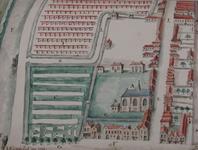 XVIII-424 Plattegrond van het Sint-Agathaklooster aan de Westewagenstraat, anno 1563