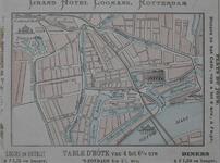 XXIV-34A Plattegrond van het centrum van Rotterdam, met vermelding van enkele gebouwen, waaronder Grand Hôtel Coomans