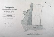 XXIV-65-05 Plattegrond van vier grondpercelen aan de Schiekade, nabij het Slagveld; het terrein van de voormalige ...