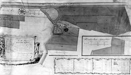 XXIX-56-02 Kaart van het slot Spangen met daarbij behorende landerijen, bossen etc., gelegen in de Spaansepolder
