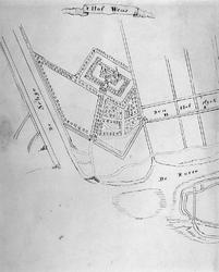 XXIX-59 Reconstructie van de plattegrond van het Hof Wenna, anno 1400