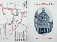 XXV-492 Kaart van het tramwegennet te Rotterdam