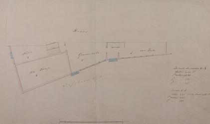XXV-671-01 Plattegrond van vier panden aan de Visschersdijk naast het Beursgebouw