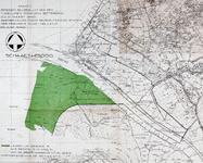 XXVIII-5-00-00-01 Kaart van een deel van Zuid-Holland met aanduiding van het natuurgebied De Beer (groen gekleurd)