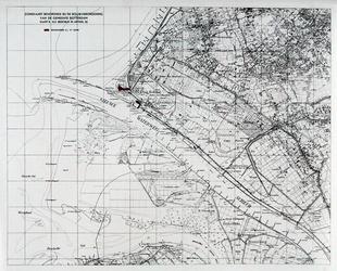 XXVIII-5-00-08 Kaart van het Westland, de Beer en het eiland van Rozenburg met daarop aangegeven twee bouwgebieden te ...
