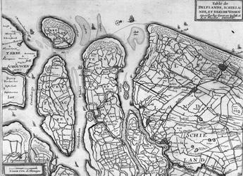 XXX-11 Kaart van de hoogheemraadschappen Delfland, Schieland, en de eilanden Voorne, Goeree, Overflakkee en IJsselmonde