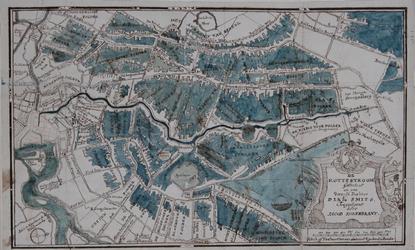 XXX-18 Kaart van het stroomgebied van de Rotte