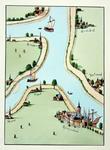 XXX-2-01 Kaart van Rotterdam en omstreken.