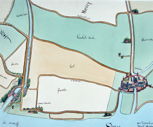 XXX-2-03-1 Kaart van de ambachten Schoonderloo, Cool en Beukelsdijk