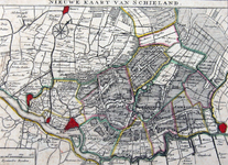 XXX-23 Kaart van het hoogheemraadschap van Schieland.
