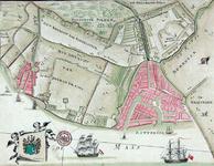 XXX-24 Kaart van het ambacht van Beukelsdijk en het ambacht van Schoonderlo en Cool. Het weergegeven gebied wordt ...