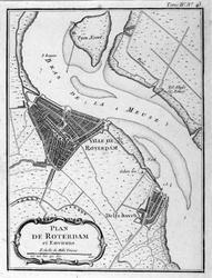 XXX-25 Kaart van Rotterdam en omgeving