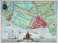 XXX-29 Kaart van het ambacht van Beukelsdijk en het ambacht van Schoonderlo en Cool. Het weergegeven gebied wordt ...