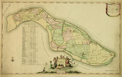 XXX-30-01 Kaart van 't eiland Overfakkee en Goedereede