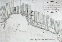 XXX-33-00-01 Kaart van de landerijen achter de Groenedijk in Nieuwerkerk aan den IJssel, van Kortenoord tot aan De Snelle.