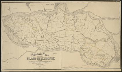 XXX-35 Kaart van het eiland IJsselmonde.