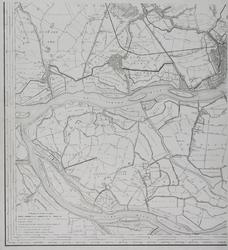 XXX-36-00-03 Kaart van Rotterdam en omstreken in vier bladen. Blad C linksonder: Vlaardingen, Schiedam, Delfshaven en ...
