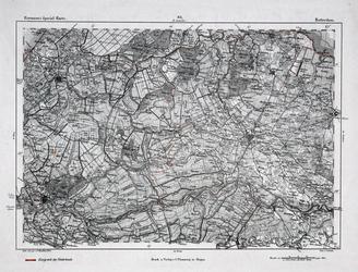 XXX-37 Kaart van Midden-Nederland. Het weergegeven gebied wordt begrensd door Noordwijk, Naarden, Amersfoort, ...