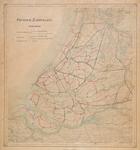 XXX-47-01 Kaart van Zuid-Holland met aanduiding van het provinciaal wegenplan 1927, de aanvulling 1932 en het ...