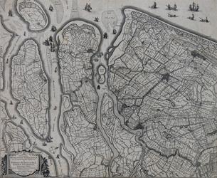 XXX-5 Kaart van: Delfland, Schieland boven, onder de eilanden Voorne, Overflakkee, Goeree en IJsselmonde