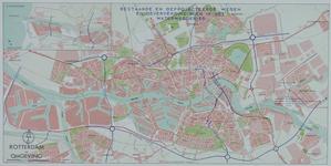 XXX-60-1 Plattegrond van Rotterdam en omgeving met daarop aangetekend de bestaande en geprojecteerde wegen en ...