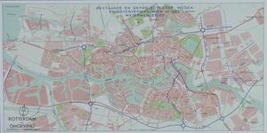 XXX-60-2 Plattegrond van Rotterdam en omgeving met daarop aangetekend de jaartallen, bestaande en geprojecteerde wegen ...