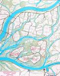 XXX-68A Kaart met ontwerp voor spaarbekkens in de Biesbosch
