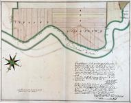 XXXI-148-02 Kaart van landerijen gelegen aan de Rotte van de Boschkade [Rubroeksekade] tot aan Meijsjes Herberg, de ...