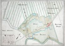 XXXI-148-03-01 Kaart van een geprojecteerde boezem door de Berg- en Broekpolder ten behoeve van de droogmaking van de ...