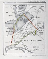 XXXI-20 Kaart van de gemeente Capelle aan den IJssel