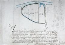XXXI-264-01 Kaart van een perceel land gelegen in de grondheerlijkheid van Katendrecht, bij de haven van Charlois