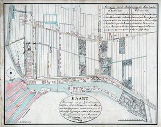 XXXI-268-17 Kaart met een overzicht van de palen die zijn geplaatst om de grens aan te geven tussen de stad Rotterdam ...