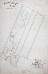 XXXI-278-1 Schetskaart van de buitenplaats Vredehof, benoorden de Oudedijk